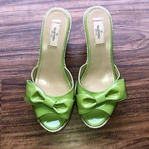 Valentino espadrilles green. Size 40 (10US)